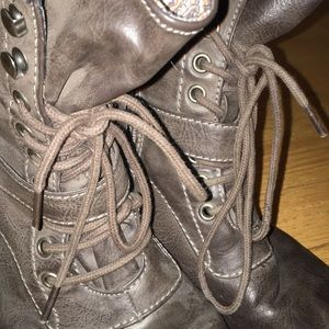 American Rag Shoes - Brown Combat Boots